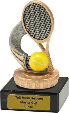 Trophäe Tennis, 50x100mm