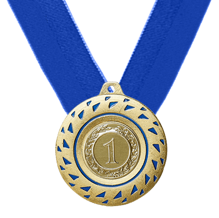 50 mm Medaille inkl. blauem Band